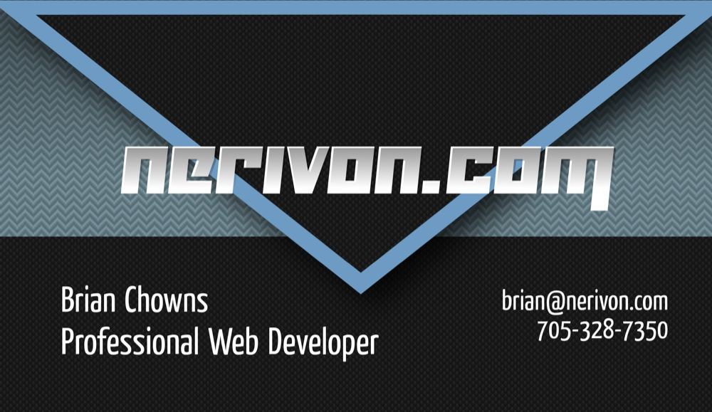 Brian Chowns - Business Card